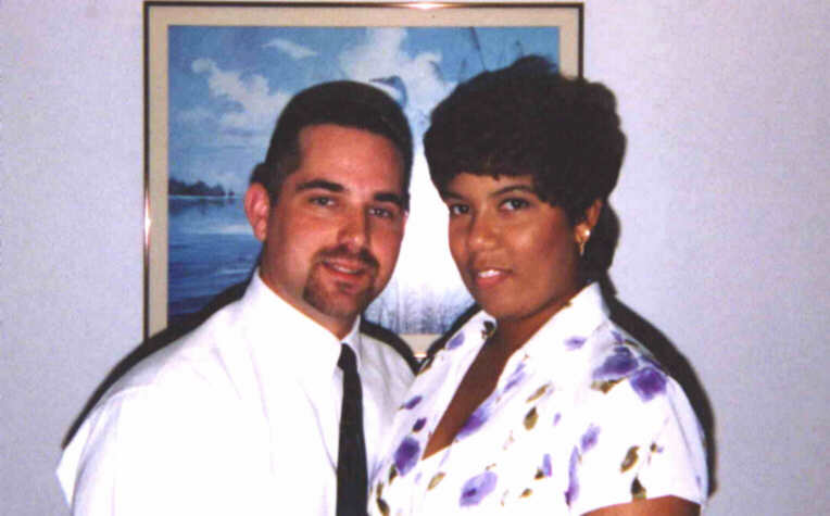 Richard and Valarie shortly after they said 'I Do' on July 31st, 1998.